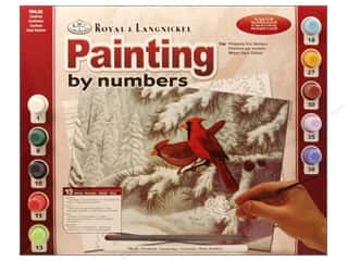 Projects & Kits Winter: Royal Paint By Number Adult Cardinals
