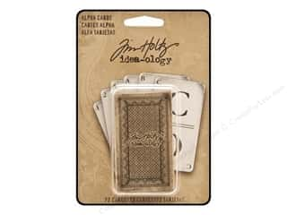 Cards &amp; Envelopes  2.5 x 2.5: Tim Holtz Idea-ology Alpha Cards