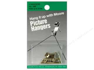 Framing Picture Hangers: Moore Picture Hangers with Nail 20lb 4pc