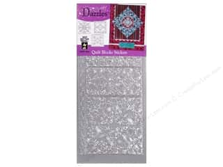 HOTP Stickers Dazzles Quilt Block Silver