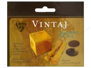 Vintaj Wood Dapping Block with 2 Punches