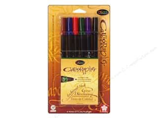 Sakura Memory Pens: Sakura Pigma Calligrapher Pen 1mm Assorted 6pc