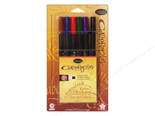 Sakura Memory Pens: Sakura Pigma Calligrapher Pen 3mm Assorted 6pc