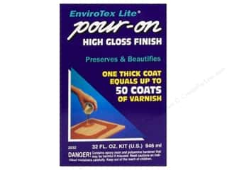 Resin, Ceramics, Plaster Finishes: Envirotex Lite Kit 32 oz