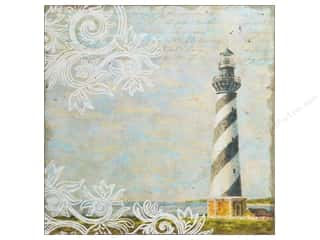 Flocking Blue: K&Company Paper 12x12 Tim Coffey Travel Frothed Lighthouse (12 pieces)