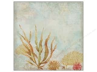 Clearance Blumenthal Favorite Findings: K&Co Paper 12x12 TC Travel Seaweed (25 piece)