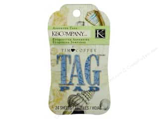 Beach & Nautical $2 - $4: K&Company Tag Pad Tim Coffey Travel