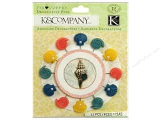 K&Company Embellishments Decorative Pins Tim Coffey Travel