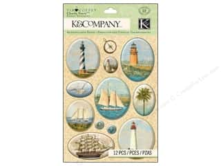 House of White Birches New: K&Company Stickers Tim Coffey Travel Clearly Yours Map