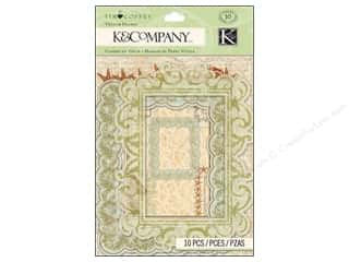 K & Company Dimensional Stickers: K&Company Frame Dimensional Tim Coffey Travel Vellum