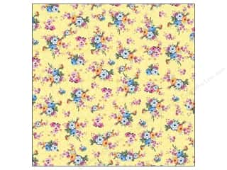 cardstock Iridescent: K&Company Paper 12x12 Bloomscape Glitter Bloom Yellow (12 pieces)