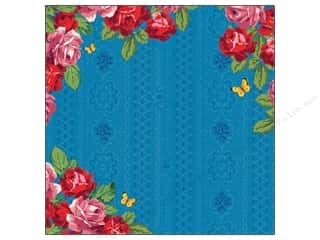 K&Company Paper 12x12 Bloomscape Varnished Rose Border