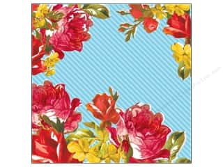 Flowers K&Company 12 x 12 in. Paper: K&Company 12 x 12 in. Paper Bloomscape Collection Bold Roses (25 pieces)