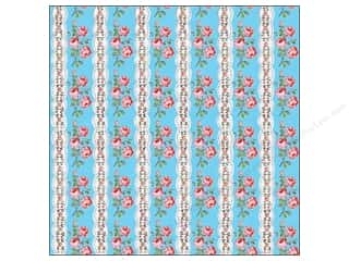 K & Company Papers: K&Company Paper 12x12 Bloomscape Floral Stripe (25 pieces)