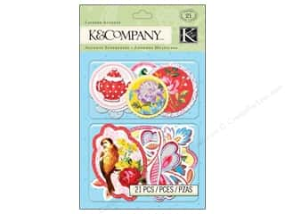 K & Company Dimensional Stickers: K&Company Layered Accents Bloomscape