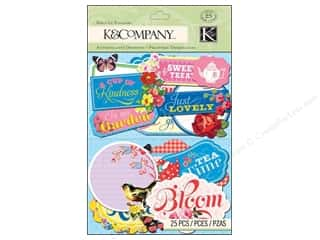 Love & Romance DieCuts Sticker: K&Company Stickers Die Cut Bloomscape Label