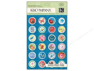 K&Co Grand Adhesions Bloomscape Button