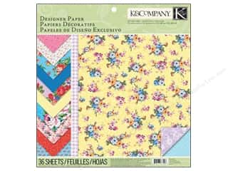 "Printed Cardstock: K&Company Paper Pad 12""x 12"" Bloomscape Designer"