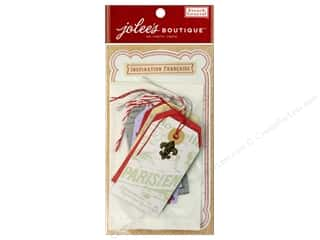 EK Jolee's Boutique Embellishment French General Craft Tag with Embellishment