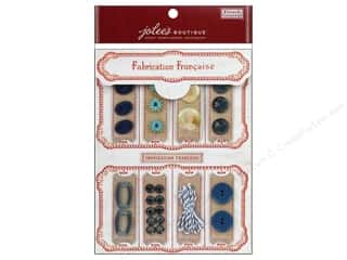 EK Jolee's Boutique Embellishment French General Notion Kit Blue