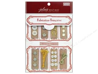 EK Jolee's Boutique Embellishment French General Notion Kit Mother of Pearl