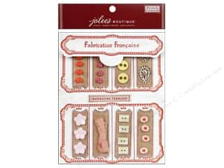 EK Jolee's Boutique Embellishment French General Notion Kit Pink