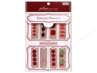 EK Jolee's Boutique Embellishment French General Notions Kit Red