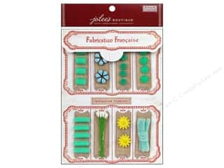 EK Jolee's Boutique Embellishment French General Notion Kit Turquoise