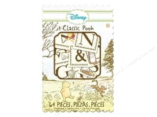 EK Chipboard Box Disney Pooh Alphabet