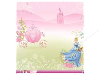 "Sisters Licensed Products: EK Paper 12""x 12"" Bulk Disney Princess Cinderella Glitter (12 pieces)"