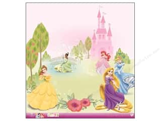 "Bells Multi: EK Paper 12""x 12"" Bulk Disney Princess Multi Glitter (12 pieces)"