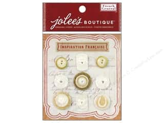 Jolee's Boutique French General Button Layered Mother of Pearl