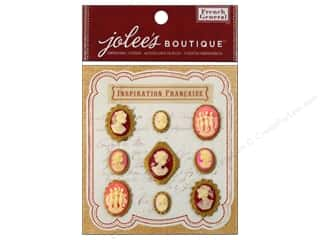 Jolee's Boutique French General Cameos Layered Metal Resin