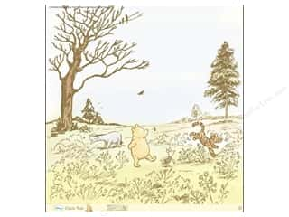 "Licensed Products Spring: EK Paper 12""x 12"" Bulk Disney Pooh Romp In The Woods Glitter (12 pieces)"