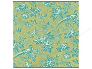 K & Company Papers: K&Company Paper 12x12 Merryweather Toile Bird & Floral (25 pieces)