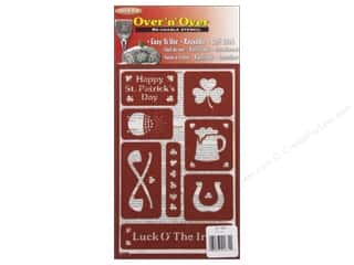 Stampendous St. Patrick's Day: Armour Over 'N' Over Stencil Irish