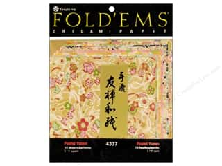 Y&amp;C Fold Ems Origami Paper 5.88&quot; Pastel Yuzen 10pc