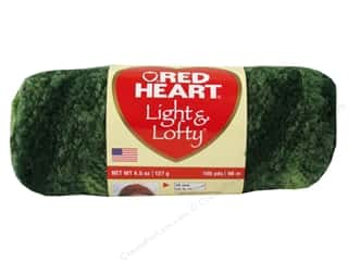 Clearance Red Heart Light & Lofty Yarn: Red Heart Light & Lofty Yarn #9966 Sage Stripe 105 yd.