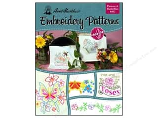 Flowers Books & Patterns: Aunt Martha's Iron On Transfer Book #402 Flowers & Butterflies
