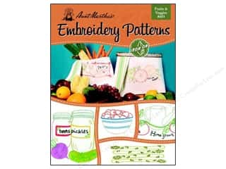 Fruit & Vegetables Yarn & Needlework: Aunt Martha's Iron On Transfer Book #403 Fruits & Veggies
