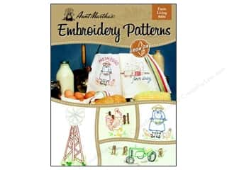 needlework book: Embroidery Transfer Farm Living Book