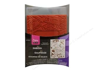 Art Institute Glitter $4 - $5: Sizzix Textured Impressions Embossing Folder with Stamp Postage & Frame by HeroArts