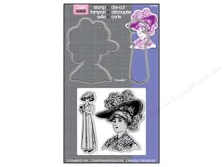 Sizzix Framelits Die Set 2 PK with Stamps Lady With Hats