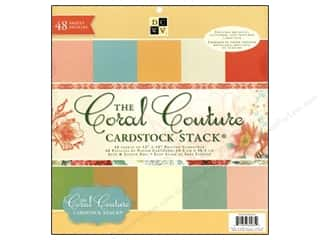 Die Cuts With A View 12 x 12 in. Cardstock Stack Coral Couture