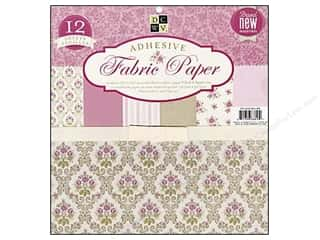 DieCuts Adhesive Fabric Stack 12x12 Floral Pink
