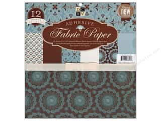 DieCuts Adhesive Fabric Stack 12x12 Floral Blue