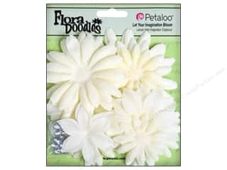 Petaloo FloraDoodles Daisy Layers Lg Glit Pearl