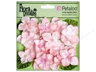 Petaloo FloraDoodles Butterflies Velvet Soft Pink