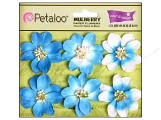 Flowers / Blossoms $6 - $22: Petaloo Coredinations Color Match Camelia Marine Blue 6pc