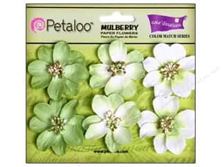 Flowers / Blossoms $5 - $6: Petaloo Coredinations Color Match Camelia Mantis Green 6pc
